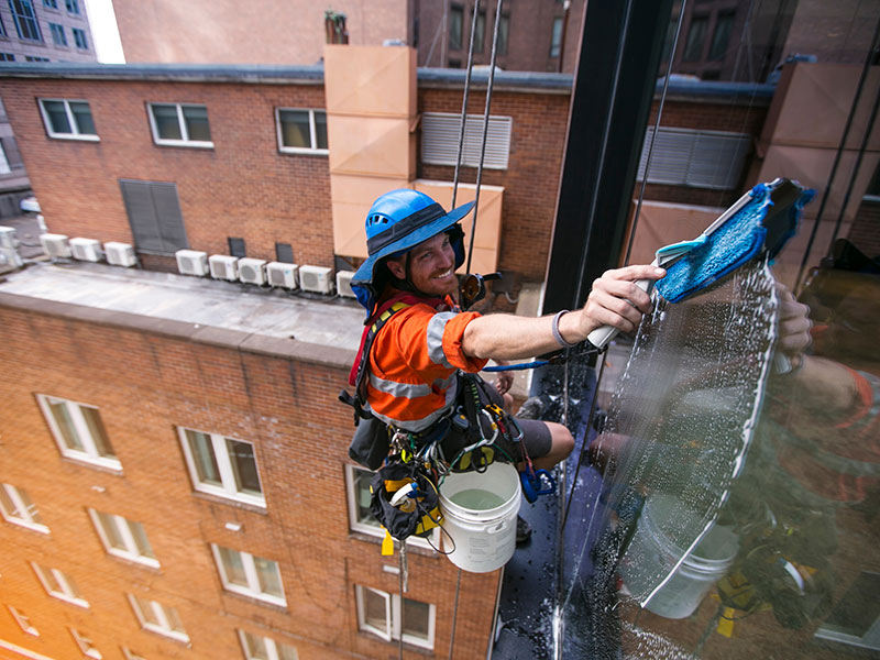 External construction cleaning
